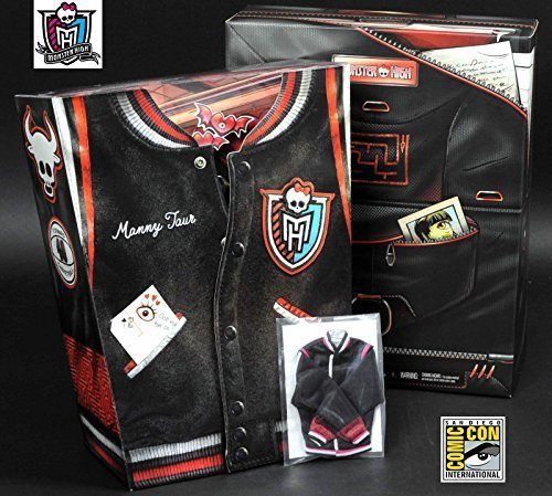 SDCC 2014 Exclusive Monster High Manny Taur & Iris Clops 2-Pack with Bonus Letterman Jacket