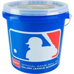 Rawlings 12U Bucket & 24 Baseballs Set, Multicolor