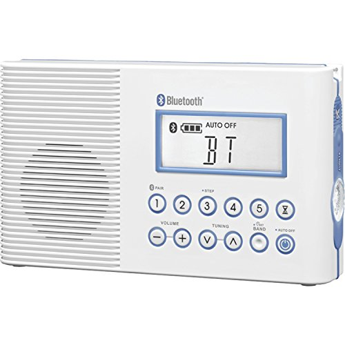 Sangean H202 Portable AM/FM/Weather Alert, Digital Tuning Waterproof Shower Radio with Bluetooth