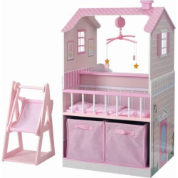 Teamson Kids All in One Baby Doll Nursery Station, Multicolor