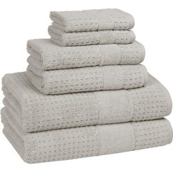 Hammam Set of 6 Towels Dolphin Gray- Kassatex