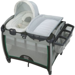 Graco Pack 'n Play Quick Connect Portable Bouncer & Bassinet Set, Green