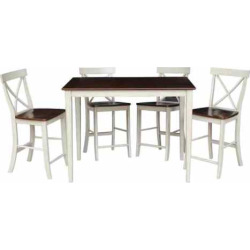 International Concepts 30″ x 48″ Gathering Dining 5-piece Set, Brown
