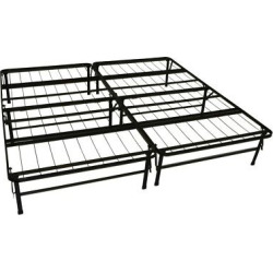 Durabed Steel Foundation & Frame – In – One Mattress Support System Foldable Bed Frame No Assembly Required – Black – King-Size – Sit N Sleep