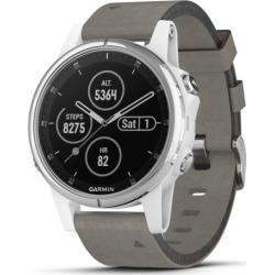Garmin fenix 5 Plus Smartwatch Sapphire White with Suede Band