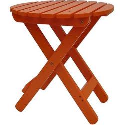 Shine Company Wood Patio Adirondack Folding Table Round, Orange