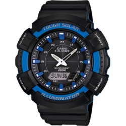 Casio Men's Illuminator Analog and Digital Solar Watch, Black