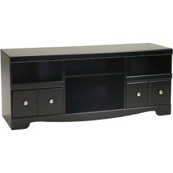 Shay Black – LG TV Stand with Fireplace Option – Signature Design by Ashley