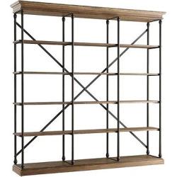 Belvidere 5 Shelf Wide Bookcase Black – Homelegance, Brown
