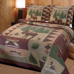 Moose Lodge 3-pc. Reversible Quilt Set, Multicolor