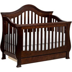 Million Dollar Baby Classic Ashbury 4-in-1 Convertible Crib with Toddler Rail – Espresso, Brown