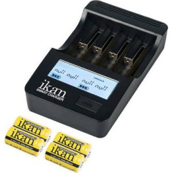 ikan ICH-SC4 Battery Charger with Four 18350 800mAh Batte SC4-18350-8-4