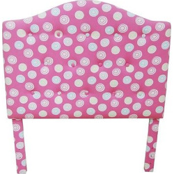 Twin Tufted Headboard Pink/White Dots – HomePop