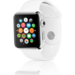 Apple Watch Series 2 w/ 38mm Stainless Steel Case & Sport Band – White (Refurbished)