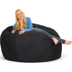 large memory foam bean bag 5 ft black relax sacks - Allshopathome-Best Price Comparison Website,Compare Prices & Save
