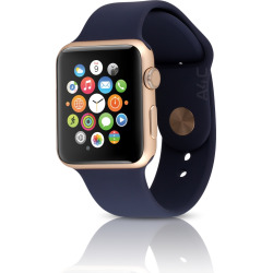 Apple Watch Series 1 w/ 42mm Aluminum Gold Case & Midnight Blue Sport Band (Scratch and Dent)