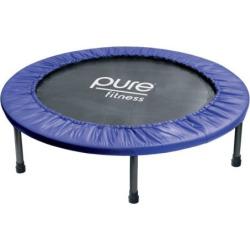 Pure Fitness 40-Inch Mini Trampoline Rebounder, Multicolor