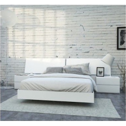 district 4 piece queen size bedroom set nexera white - Allshopathome-Best Price Comparison Website,Compare Prices & Save