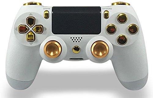 GM Master Mod White & Gold PS4 Modded Controller Mod Custom Rapid Fire, Drop Shot, Quickscope COD Black Ops 3, Infinite Warfare, MW Remastered