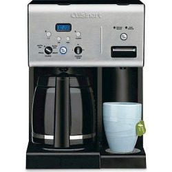 Cuisinart 12 Cup Programmable Coffee Maker & Hot Water System – Stainless Steel Chw-12, Black/Grey