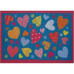 Fun Rugs Fun Time Hearts Rug, Multicolor