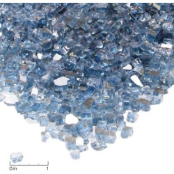 Fire Glass-20 lb. Reflective Chips – Blue – Real Flame