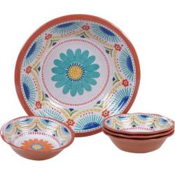 Certified International Vera Cruz 5-piece Melamine Salad/Serving Set, Multicolor