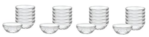 Duralex Made In France Lys Stackable Clear Bowl, 3.5-Inch, Set of 6 (4-Pack)