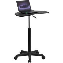 Adjustable Mobile Laptop Computer Desk with Black Top – Flash Furniture