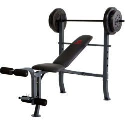 Marcy Diamond Weight Bench and 80-lb. Weight Set, Black