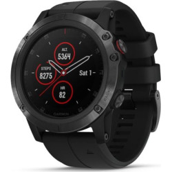Garmin fenix 5X Plus Multi-Sport GPS Smartwatch (Sapphire Black with Black Band)