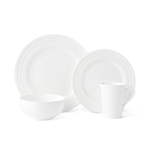 Mikasa Ciara 16-Piece Bone China Dinnerware Set, Service for 4