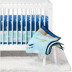 Crib Bedding Set Fly, Fly Away 4pc – Cloud Island – Blue