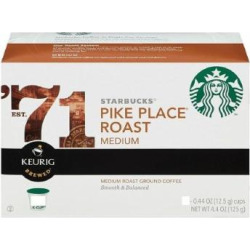 STARBUCKS PIKE PLACE ROAST COFFEE K CUP 108 COUNT