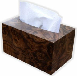 Hand Towel Box Cover and Dispenser made to fit Kimberly Clark Kleenex brand POP-UP Paper Hand Towels- Walnut Burl Wood