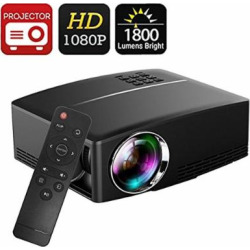 Projector DIWUER Video Projectors 180″ LED Mini Movie Projector 1080P Full HD Portable Projector for Home Cinema Theater Entertainment