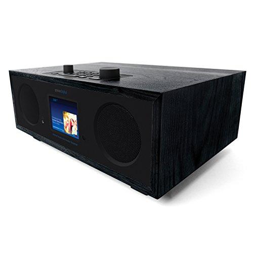 Grace Digital Encore+ Wireless Stereo Smart Speaker & Internet Radio with Wi-Fi + Bluetooth & 3.5″ Color Display Black (GDI-WHA7501)