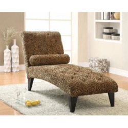 Coaster Home Furnishings Transitional Chaise, Black