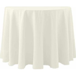 Ultimate Textile -10 Pack- Cotton-Feel 60-Inch Round Tablecloth – for Wedding and Banquet, Hotel or Home Fine Dining use, Ivory Cream