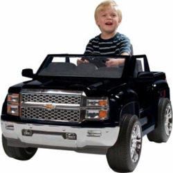 Rollplay Chevy Silverado 6 Volt Battery-Powered Children's Ride-On Toy, Black