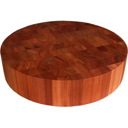 John Boos 3 Thick Round Chinese Chopping Block, American Cherry