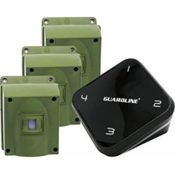 1/4 Mile Long Range Wireless Driveway Alarm w/Three Sensors Kit Outdoor Weatherproof Motion Sensor/Detector- Best DIY Security Alert System- Protect Home, Perimeter, Yard, Garage, Pool