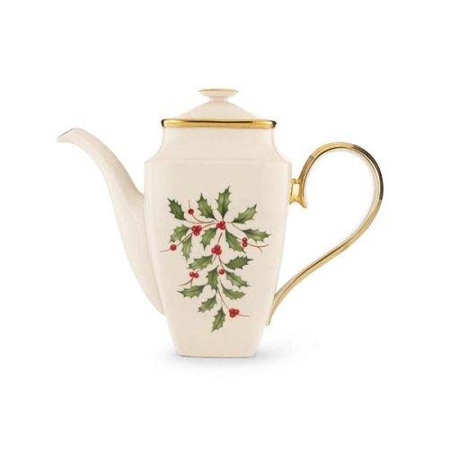 Lenox Holiday Coffeepot, Square