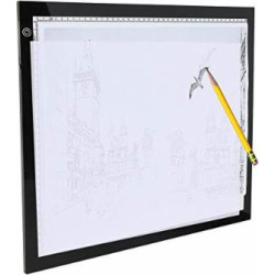 Ultra-Thin A3 Light Box LED Copy Board Drawing Pad Tracing Table for Artists, Animation, Sketching, Designing with Brightness Adjustable (3 Levels adjusted)