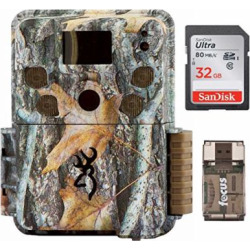 Browning Strike Force Pro Micro Trail Camera (18MP) with 32GB Memory Card and Memory Card Reader
