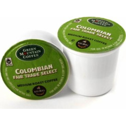 Green Mountain Columbian Fair Trade Select Coffee Keurig K-Cups, 72 Count