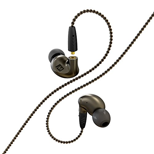MEE audio Pinnacle P1 High Fidelity Audiophile in-Ear Headphones with Detachable Cables