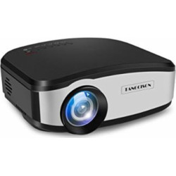 TANGCISON Video Projector,LCD Projector 1500Luminous 160″HD 1080P Projector Multimedia Home Theater Movies Projector for Cinema TV Laptop Game with HDMI USB VGA AV Input (Black)