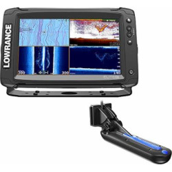 Lowrance Elite-9 Ti Chartplotter/Fishfinder w/TotalScan Transom Mount Transducer & Insight Pro by C-Map Chart