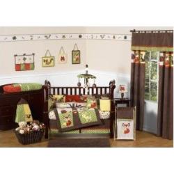 Sweet Jojo Designs 3-Piece Woodland Forest Animals Children and Kids Full/Queen Boys Bedding Set